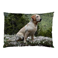Yellow Lab Sitting Pillow Cases