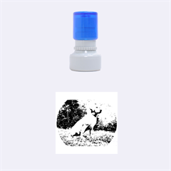Yellow Lab Sitting Rubber Round Stamps (Small)