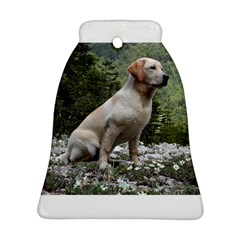 Yellow Lab Sitting Bell Ornament (2 Sides)
