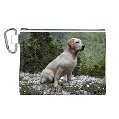 Yellow Lab Sitting Canvas Cosmetic Bag (L)