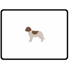 Lagotto Romagnolo Silo Color Double Sided Fleece Blanket (large)