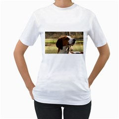 Treeing Walker Coonhound Women s T-Shirt (White) (Two Sided)