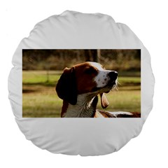 Treeing Walker Coonhound Large 18  Premium Flano Round Cushions