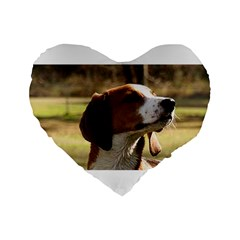 Treeing Walker Coonhound Standard 16  Premium Flano Heart Shape Cushions