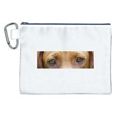 Vizsla Eyes Canvas Cosmetic Bag (XXL)