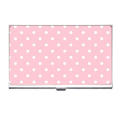 Pink Polka Dots Business Card Holders