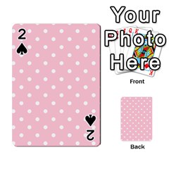 Pink Polka Dots Playing Cards 54 Designs