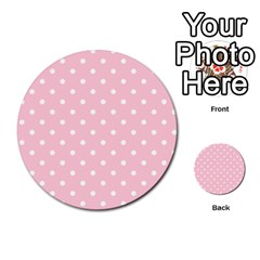 Pink Polka Dots Multi-purpose Cards (Round)