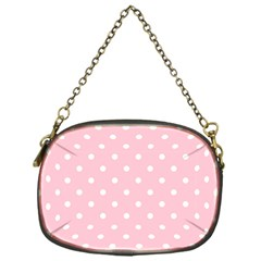 Pink Polka Dots Chain Purses (one Side)