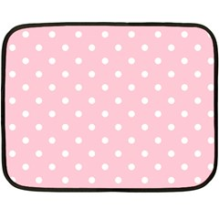 Pink Polka Dots Fleece Blanket (Mini)