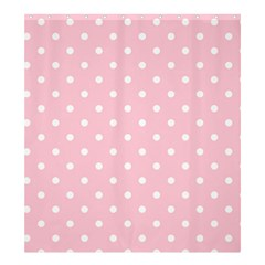 Pink Polka Dots Shower Curtain 66  x 72  (Large)