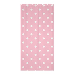Pink Polka Dots Shower Curtain 36  x 72  (Stall)