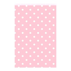 Pink Polka Dots Shower Curtain 48  x 72  (Small)
