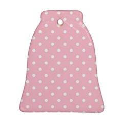 Pink Polka Dots Ornament (Bell)