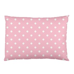 Pink Polka Dots Pillow Cases (Two Sides)