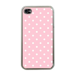 Pink Polka Dots Apple Iphone 4 Case (clear)