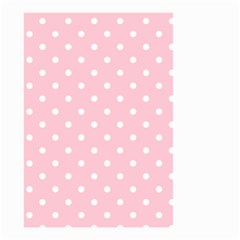 Pink Polka Dots Small Garden Flag (Two Sides)