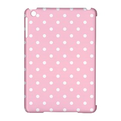 Pink Polka Dots Apple Ipad Mini Hardshell Case (compatible With Smart Cover)
