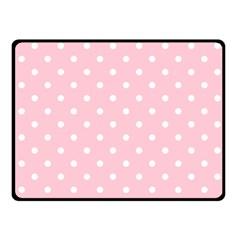 Pink Polka Dots Double Sided Fleece Blanket (Small)