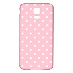 Pink Polka Dots Samsung Galaxy S5 Back Case (White)