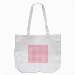 Pink Polka Dots Tote Bag (White)
