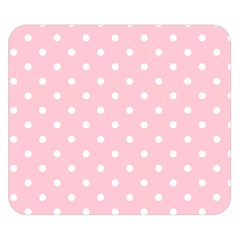 Pink Polka Dots Double Sided Flano Blanket (Small)