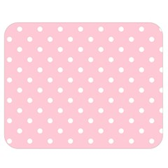 Pink Polka Dots Double Sided Flano Blanket (medium)
