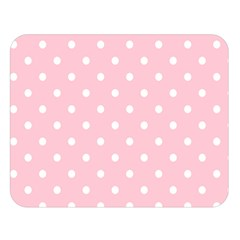 Pink Polka Dots Double Sided Flano Blanket (Large)