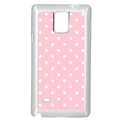 Pink Polka Dots Samsung Galaxy Note 4 Case (White)