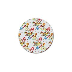 Colorful Paint Strokes Golf Ball Marker