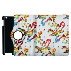 Colorful Paint Strokes Apple Ipad 3/4 Flip 360 Case