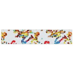 Colorful Paint Strokes Flano Scarf
