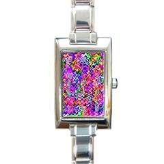 Swirly Twirly Colors Rectangle Italian Charm Watches