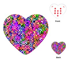 Swirly Twirly Colors Playing Cards (Heart)