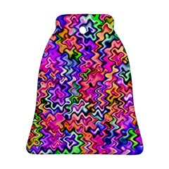 Swirly Twirly Colors Ornament (Bell)