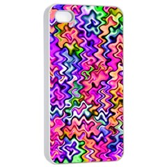 Swirly Twirly Colors Apple iPhone 4/4s Seamless Case (White)