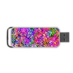 Swirly Twirly Colors Portable USB Flash (One Side)
