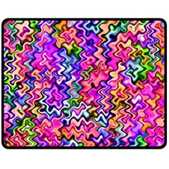 Swirly Twirly Colors Double Sided Fleece Blanket (Medium)