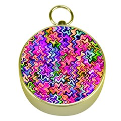 Swirly Twirly Colors Gold Compasses