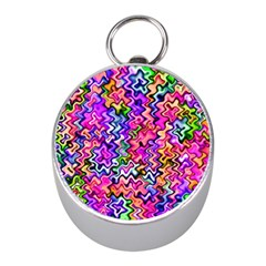 Swirly Twirly Colors Mini Silver Compasses