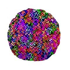 Swirly Twirly Colors Standard 15  Premium Flano Round Cushions