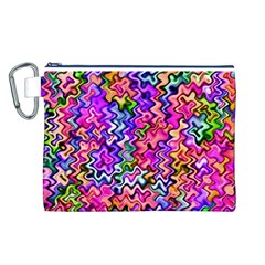 Swirly Twirly Colors Canvas Cosmetic Bag (L)