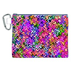 Swirly Twirly Colors Canvas Cosmetic Bag (xxl)