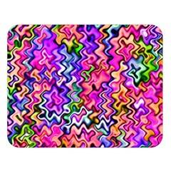 Swirly Twirly Colors Double Sided Flano Blanket (large)