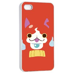 Jibanyann Full Reverse Print Apple iPhone 4/4s Seamless Case (White)