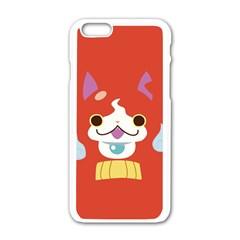 Jibanyann Full Reverse Print Apple iPhone 6 White Enamel Case