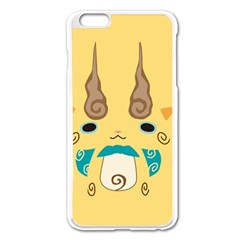 Komajirou Reverse Print Apple iPhone 6 Plus Enamel White Case