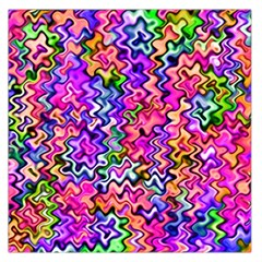 Swirly Twirly Colors Large Satin Scarf (Square)
