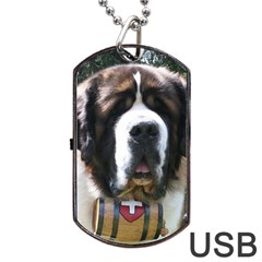St Bernard Dog Tag USB Flash (Two Sides)
