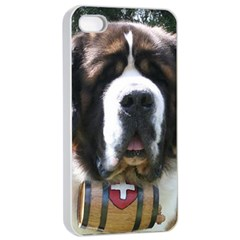 St Bernard Apple iPhone 4/4s Seamless Case (White)
